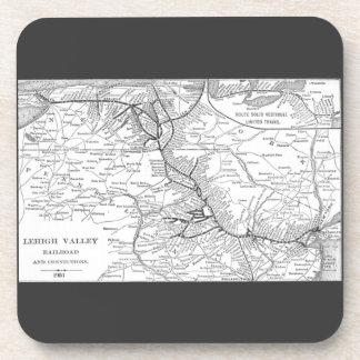 Mapa 1903 del ferrocarril del valle de Lehigh Posavasos De Bebidas