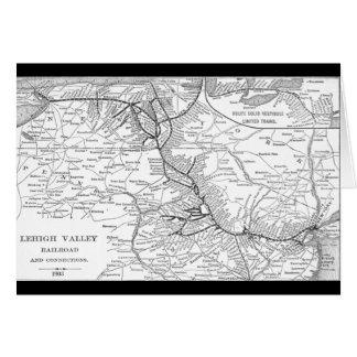 Mapa 1903 del ferrocarril del valle de Lehigh Tarjetón