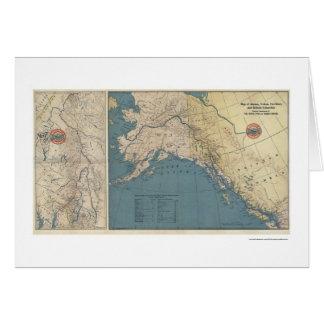 Mapa 1904 de Alaska del territorio del Yukón Tarjeta De Felicitación