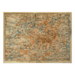 Mapa 1909 del Adirondacks de la guía del viaje del Póster