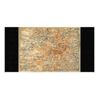 Mapa 1909 del Adirondacks de la guía del viaje del Tarjetas Personales