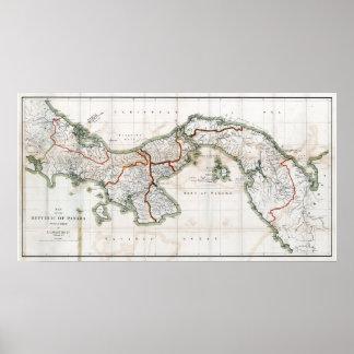 Mapa 1912 de Panamá Impresiones