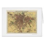 Mapa 1913 de Sao Paulo el Brasil Felicitación