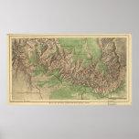 Mapa 1926 del parque nacional del Gran Cañón Impresiones