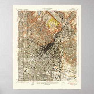 Mapa 1928 de Los Ángeles Impresiones