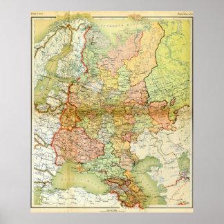 Mapa 1928 de Unión Soviética vieja URSS Rusia Impresiones