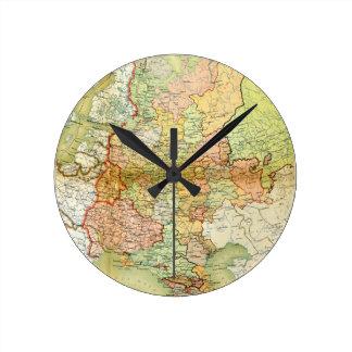 Mapa 1928 de Unión Soviética vieja URSS Rusia Reloj