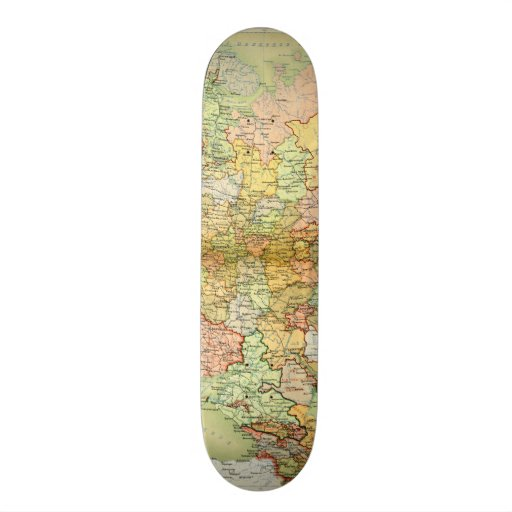 Mapa 1928 de Unión Soviética vieja URSS Rusia Skate Board