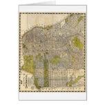 Mapa 1932 de Candrain de San Francisco California Felicitación
