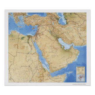 Mapa 1993 de Oriente Medio Impresiones