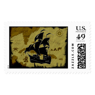 Mapa #1 del pirata sellos