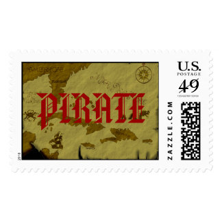 Mapa #1 del pirata timbre postal