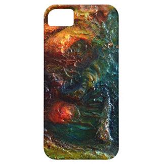 "Mapa 1"" del tesoro del extracto texturizado 3D iPhone 5 Case-Mate Carcasa"