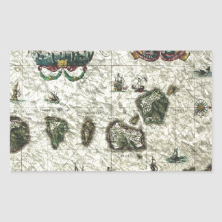 mapa 1 del vintage rectangular altavoces