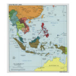 Mapa 2003 de Asia sudoriental Posters