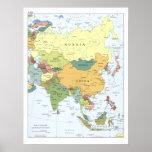 Mapa 2008 de Asia Posters