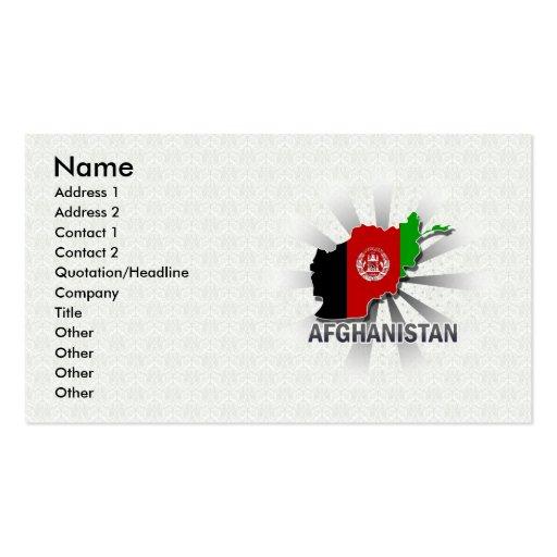 Mapa 2,0 de la bandera de Afganistán Tarjetas Personales