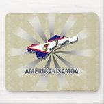 Mapa 2,0 de la bandera de American Samoa Alfombrillas De Raton