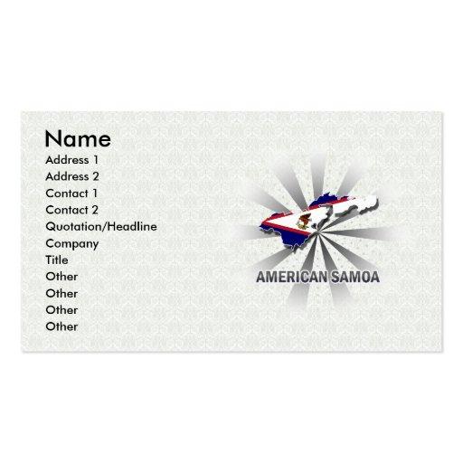 Mapa 2,0 de la bandera de American Samoa Tarjetas De Visita