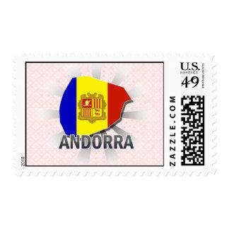 Mapa 2,0 de la bandera de Andorra Sello