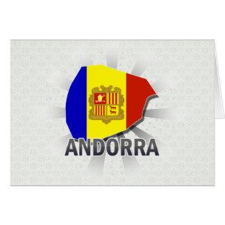 Mapa 2,0 de la bandera de Andorra Tarjetón