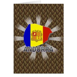 Mapa 2,0 de la bandera de Andorra Tarjeta