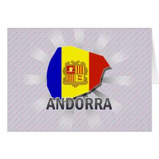 Mapa 2,0 de la bandera de Andorra Felicitación