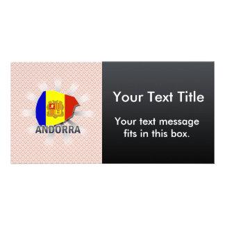 Mapa 2,0 de la bandera de Andorra Tarjeta Fotográfica Personalizada