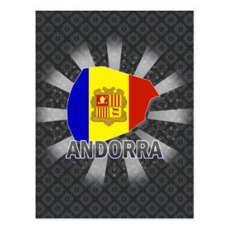 Mapa 2,0 de la bandera de Andorra Tarjeta Postal