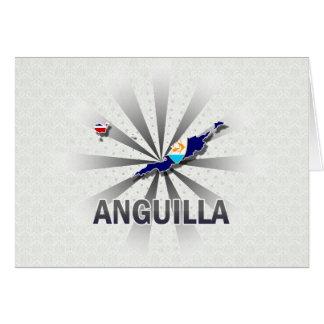 Mapa 2,0 de la bandera de Anguila Tarjeton