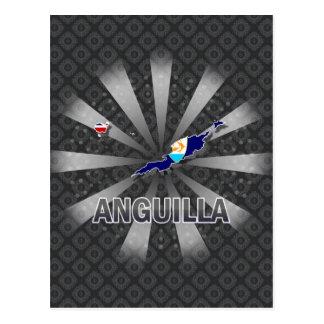 Mapa 2,0 de la bandera de Anguila Postal