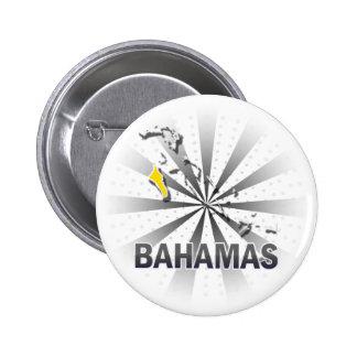 Mapa 2,0 de la bandera de Bahamas Pin Redondo De 2 Pulgadas