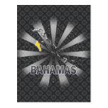 Mapa 2,0 de la bandera de Bahamas Postales