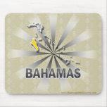 Mapa 2,0 de la bandera de Bahamas Alfombrilla De Ratones