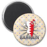 Mapa 2,0 de la bandera de Bahrein Imán De Frigorifico