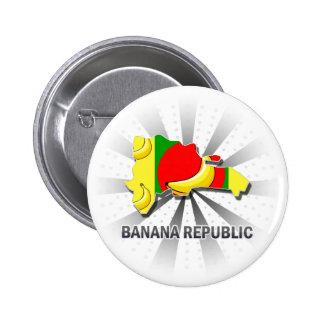 Mapa 2,0 de la bandera de Banana Republic Pin Redondo 5 Cm