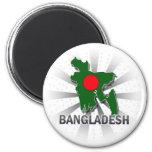 Mapa 2,0 de la bandera de Bangladesh Imán De Nevera