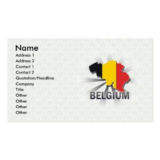 Mapa 2,0 de la bandera de Bélgica Tarjetas De Visita