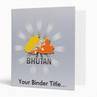 Mapa 2,0 de la bandera de Bhután