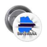 Mapa 2,0 de la bandera de Botswana Pins