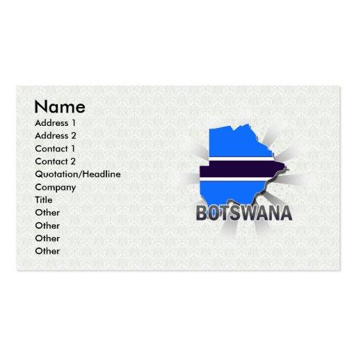 Mapa 2,0 de la bandera de Botswana Tarjetas De Visita