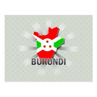 Mapa 2,0 de la bandera de Burundi Postales