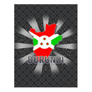Mapa 2,0 de la bandera de Burundi Tarjetas Postales