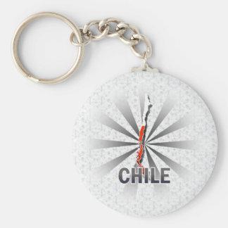 Mapa 2,0 de la bandera de Chile Llavero Personalizado