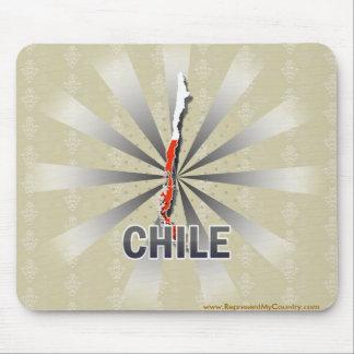 Mapa 2,0 de la bandera de Chile Tapete De Ratón