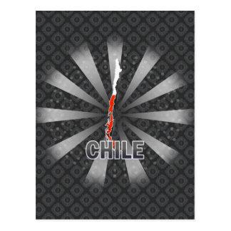 Mapa 2,0 de la bandera de Chile Tarjeta Postal