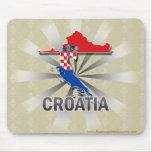 Mapa 2,0 de la bandera de Croacia Alfombrillas De Ratón