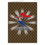 Mapa 2,0 de la bandera de Croacia Tarjetón