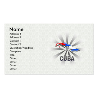 Mapa 2,0 de la bandera de Cuba Tarjetas De Visita