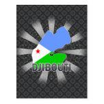 Mapa 2,0 de la bandera de Djibouti Postal
